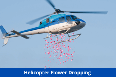 Helicopter Flower Dropping